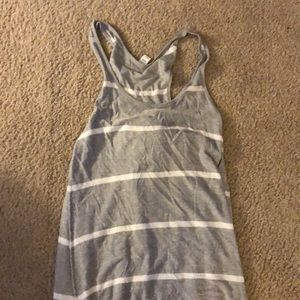 Grey and white striped old navy maxi dress